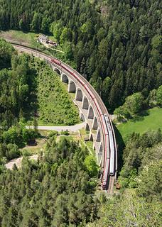 Изображение на Semmering railway близо до Semmering. forest landscape austria track railway sbahn taurus bahn semmering obb rinne viadukt kalte railjet kalterinne