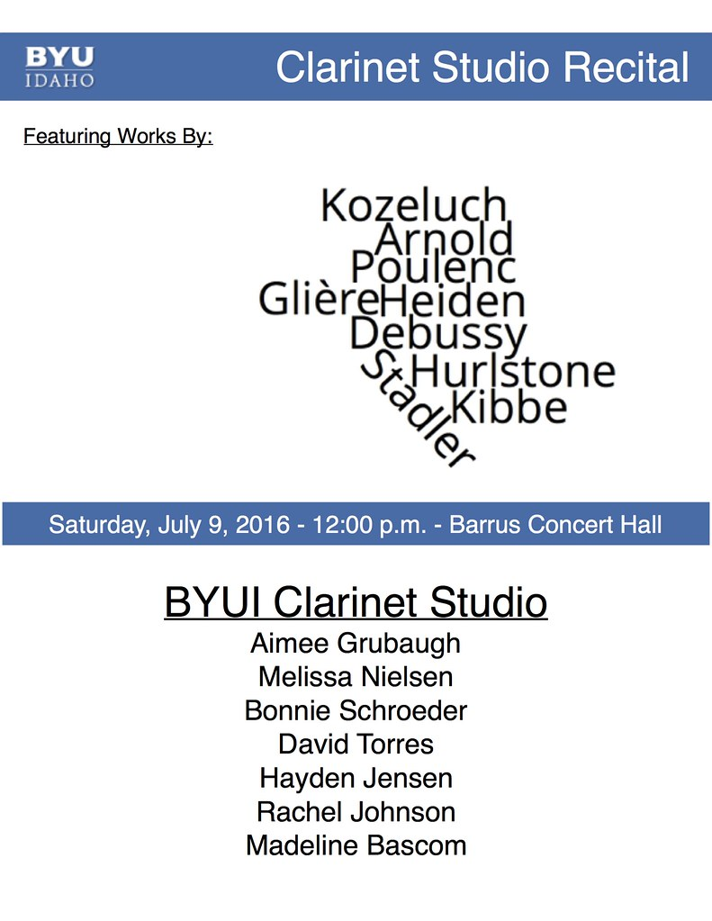Studio Recital Flyer
