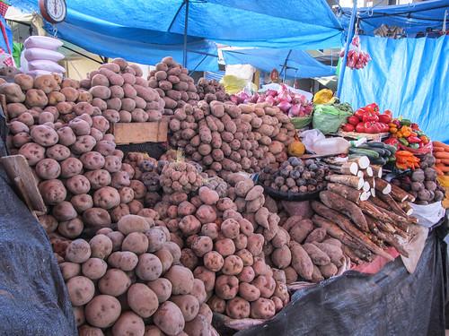 Arequipa: le marché San Camilo et ses patates