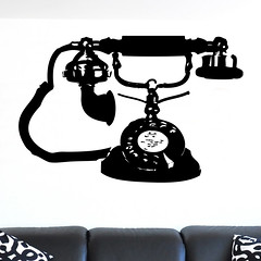 Vintage Old Fashioned Telephone Wall Sticker