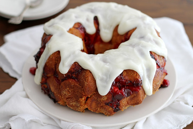 Cherry Cheescake Monkey Bread | girlversusdough.com @stephmwise