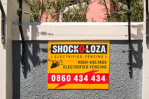 Electrified fencing, Cape Town