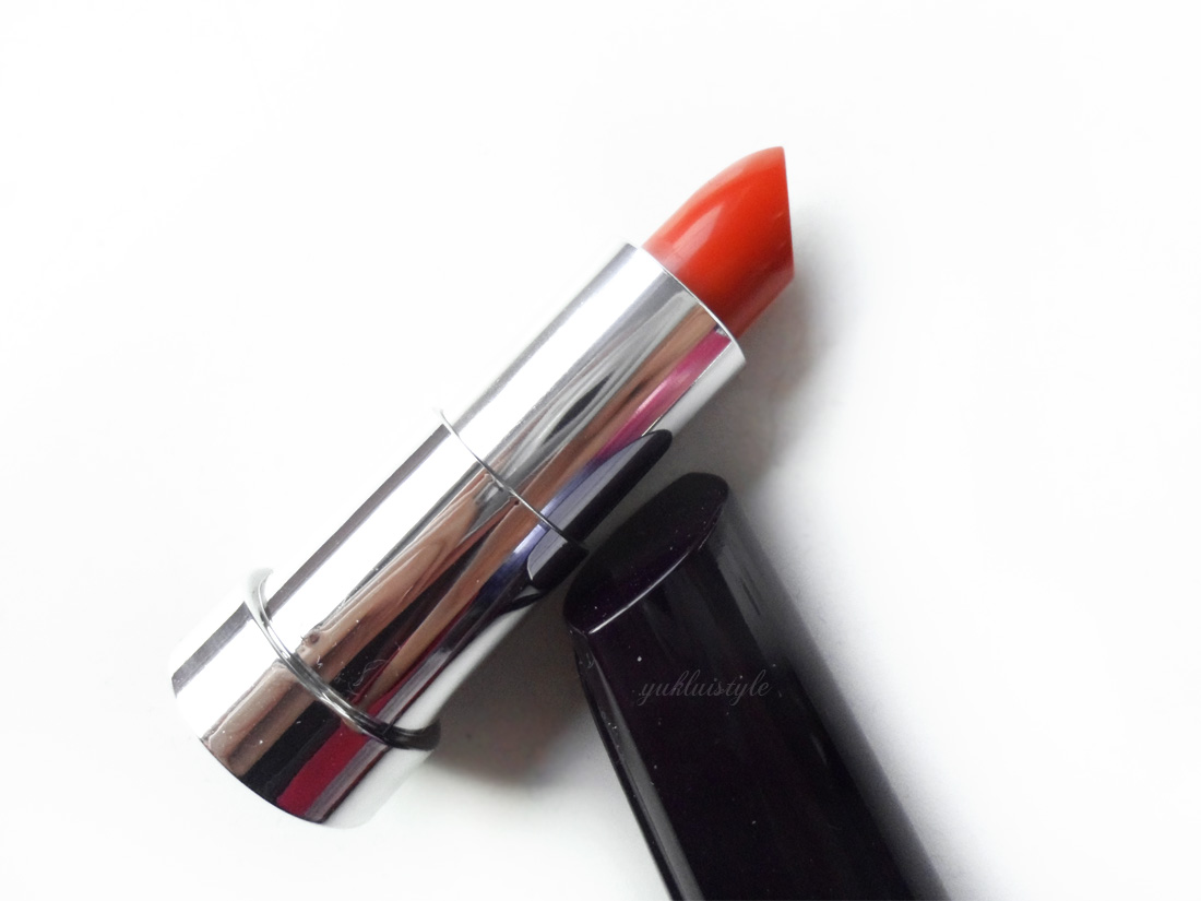 Yves Rocher Moisturising Cream Lipstick in Orange Muscade review and swatch