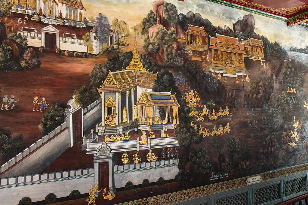ציורי קיר בארמון המלך בבנגקוק