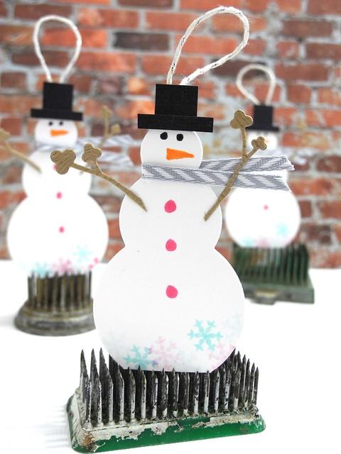 Snowman Tags