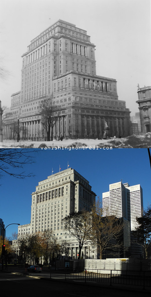 Before and After : Sun Life building