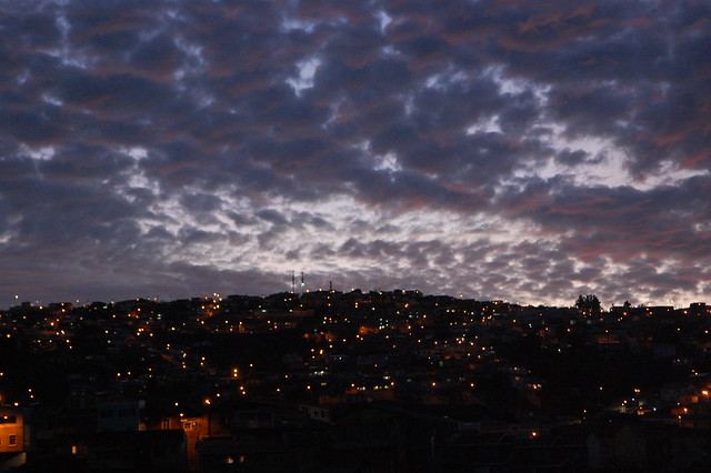 Sunset in Valparaíso, Chile