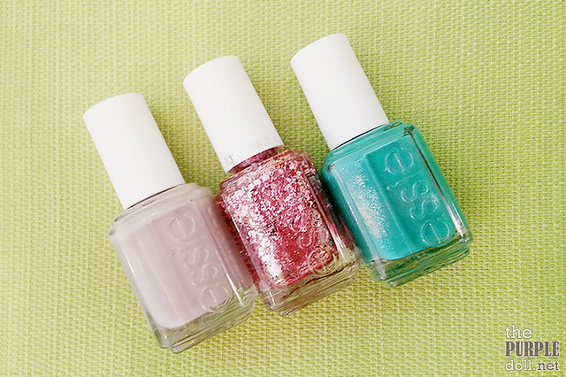 Essie nail polishes (Master Plan, A Cut Above, Naughty Nautical) at Make Me Blush