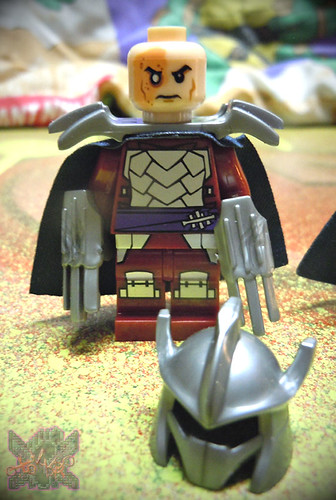"Sheng Yuan TEENAGE MUTANT NINJA TURTLES :: ""SHREDDER"" Bootleg Minifigure Set vi  (( 2014 ))"
