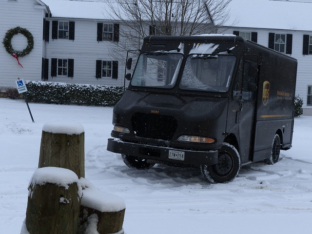 UPS Truck in Snow
