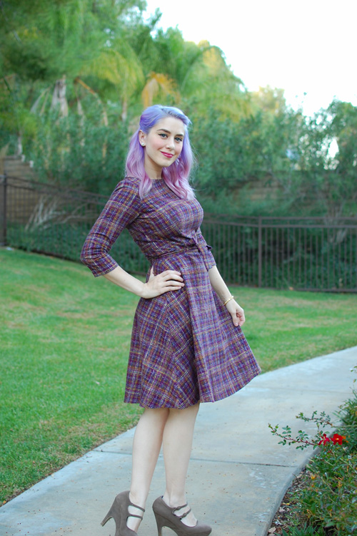 Heart of Haute Mitzi dress in Pendleton Plum 013