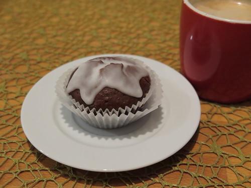 Chocolate Muffin mit Cointreau-Zucker-Haube