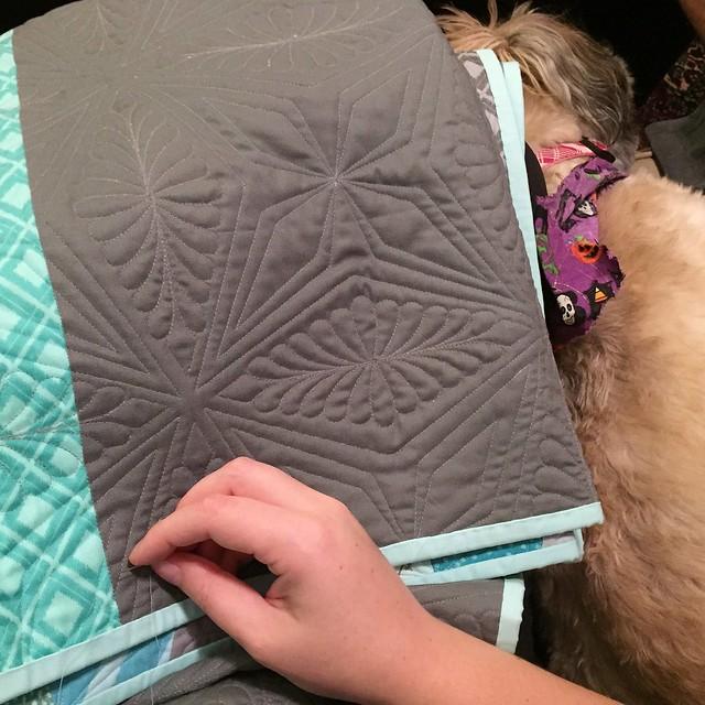 Hand sewn quilt binding