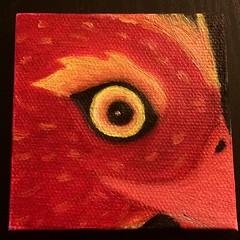 My very first oil painting! It's my new favorite medium:art: #phoenix #art #oil #painting #eye