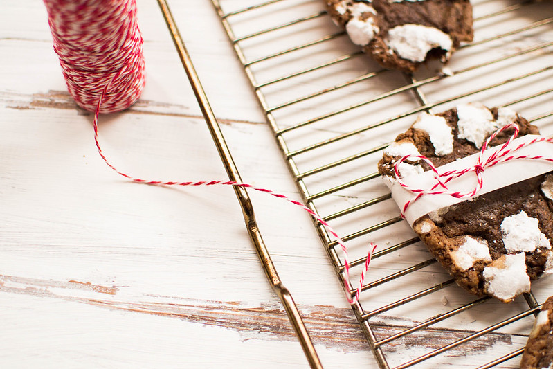 Snow Covered Chocolate Cookies