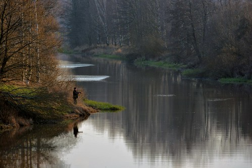 river fisherman vantaanjoki joki kalastaja