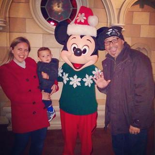 Diego and Mickey.  #babydiego #disneyland #dcatoday