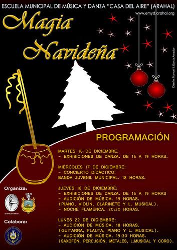 """AionSur 15852673067_267d8e8df0_d La Banda Juvenil participa en la """"Magia Navideña"""" de la Escuela de Música Agenda Cultura"""