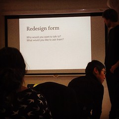 Visiting @GA London from the Ministry of Justice, @Sjors Timmer is teaching #ux students all about forms