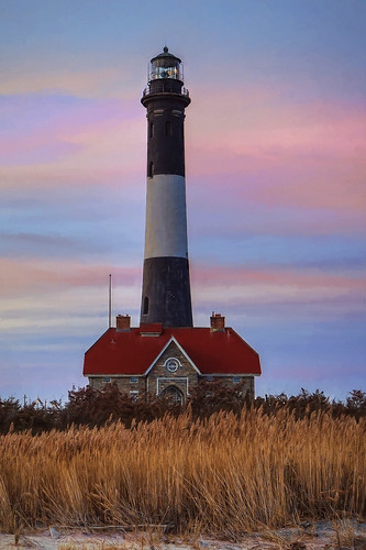 ocean county november sunset sky lighthouse beach island fire suffolk