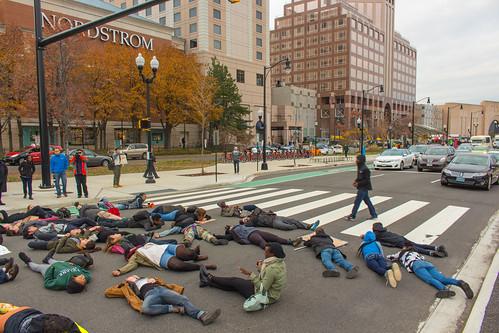 #DCFerguson Protest in Pentagon City (Arlington, Virginia)