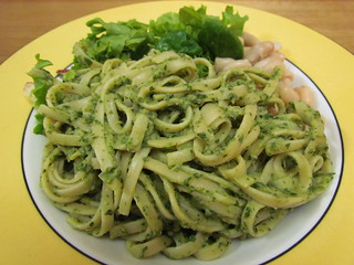 Linguine with Cannellini Pesto