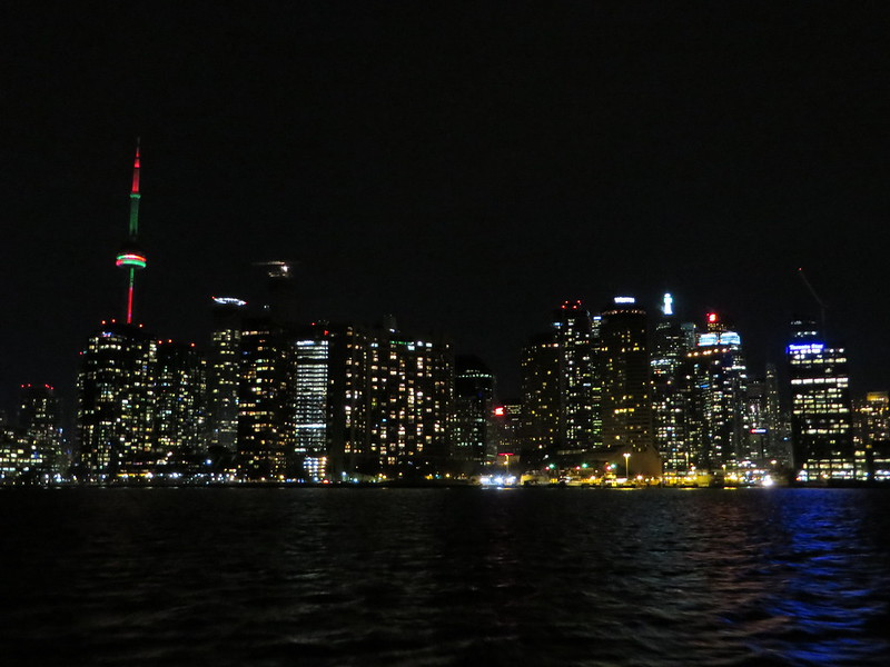 Approaching the city on the return ferry home