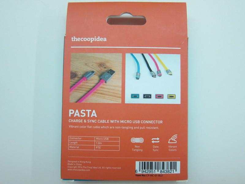 thecoopidea Pasta Micro USB Cable - Box Back