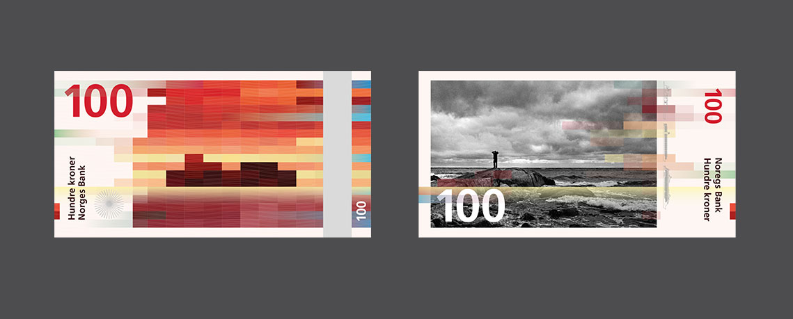 Norwegian new bank notes, design by Snohetta