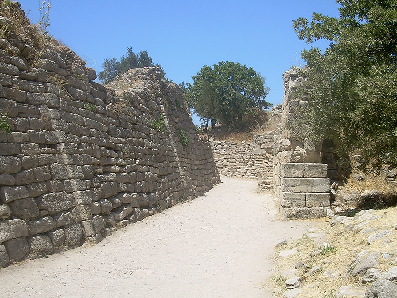 Portion of the walls of Troy