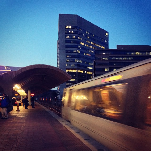 Train arrives in Silver Spring #igdc #wmata