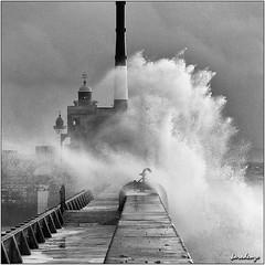 Mer agitée au Havre