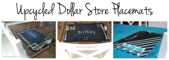 Dollar Store Placemats Collage