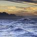 Tide and waves at Puerto de Las Nieves !
