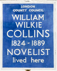 Photo of William Wilkie Collins blue plaque