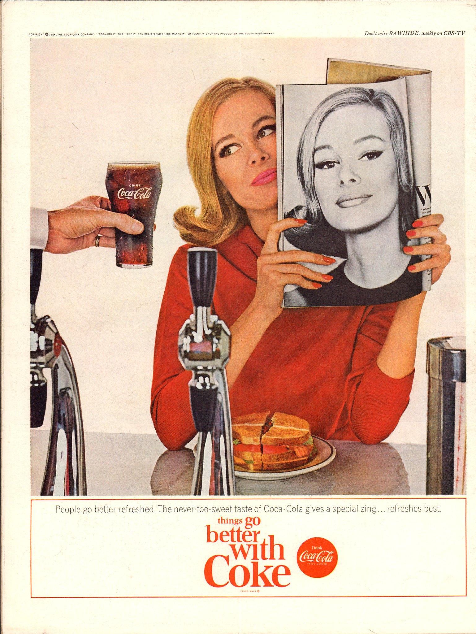 1964 Coca-Cola Coke Advertisement Life Magazine March 13 1964