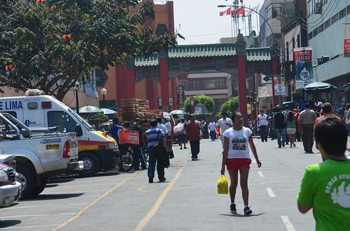 Ein Tor schliesst das Barrio Chino ab.
