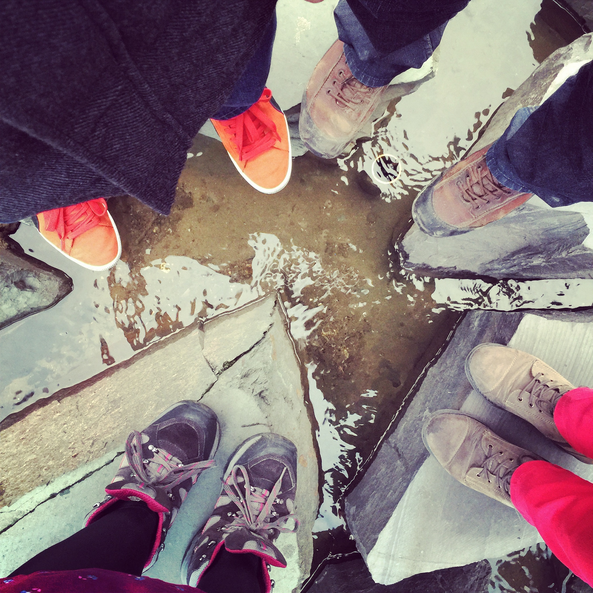 Feet in Manchester City Center
