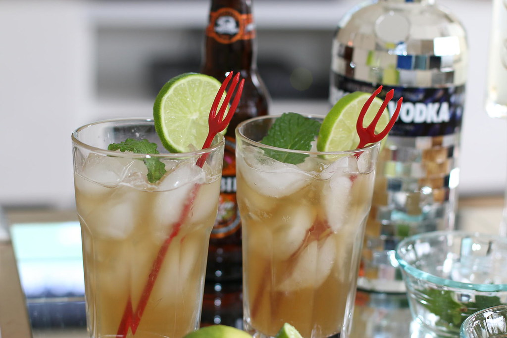 Moscow Mule Cocktail recipe, drinks, beverage