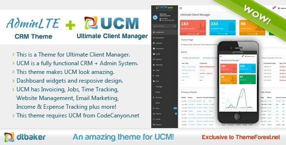 UCM Theme - AdminLTE CRM