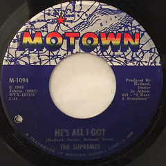 THE SUPREMES:LOVE IS LIKE AN ITCHING IN MY HEART(LABEL SIDE-B)
