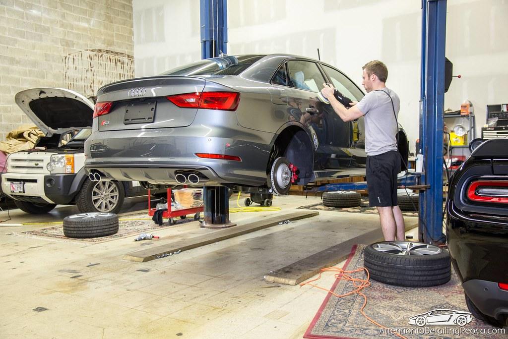 ATD | Efficiency - Polishing Audi on lift
