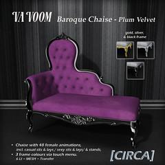 VaVoom - Baroque Chaise - Plum Velvet