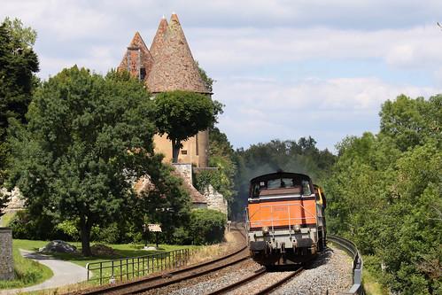 22 juin 2009 BB 63865-63817 Train 511807 Périgueux -> Coutras Douzillac (24)