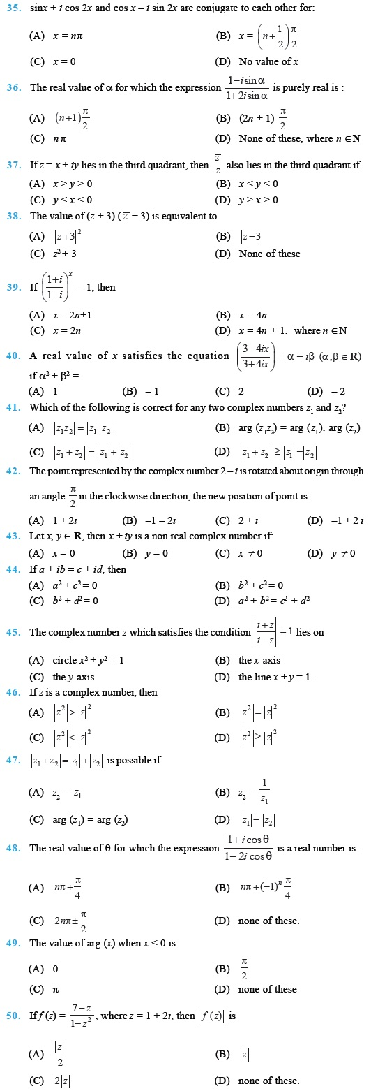 Complex Numbers and Quadratic Equations