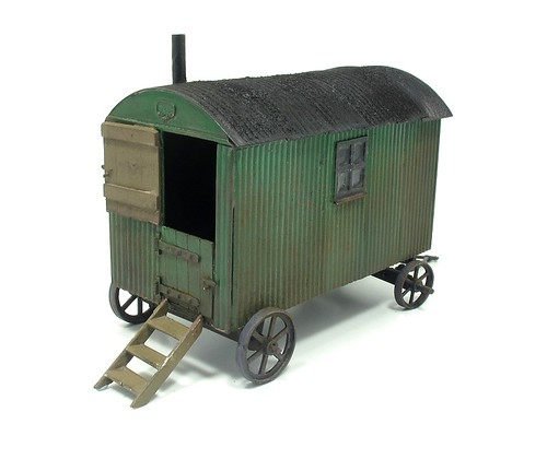 Shepherds hut painted