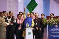 Narendra-Modi-Flags-Meghalaya