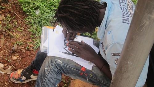 africa streetart mural busstop rwanda artists kurema buspark muralists rusizi cyangugu africancontemporaryart kamembe kuremakurebakwiga