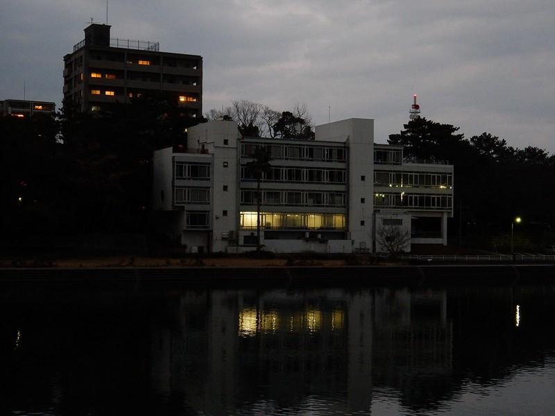 旧山内会館夕景