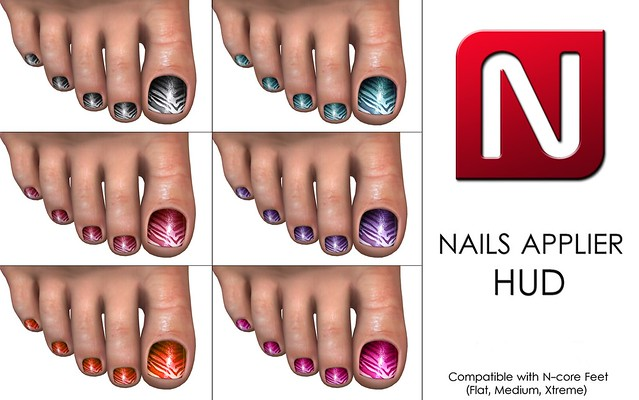 GIFT! Nails applier for your N-core Feet (Rigged Mesh)